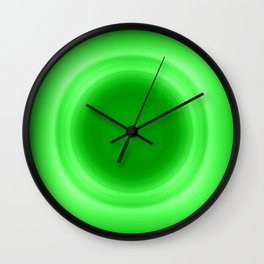 Neon Green Glow Wall Clock