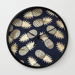 Pineapple wrapping Wall Clock