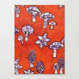 mushroom batik Canvas Print