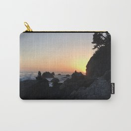 Sunset on a Big Sur Beach with Crashing Waves Carry-All Pouch