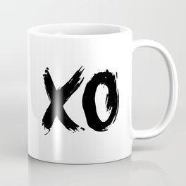 XO Hugs and Kisses black and white xoxo gift for her girlfriend bedroom art and home room wall decor Coffee Mug