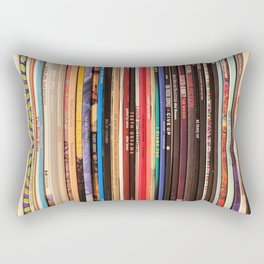Indie Rock Vinyl Records Rectangular Pillow