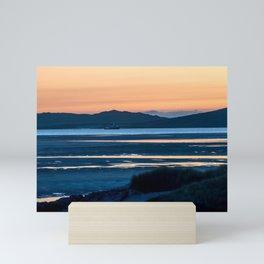 Sunset at Luskentyre Beach Mini Art Print