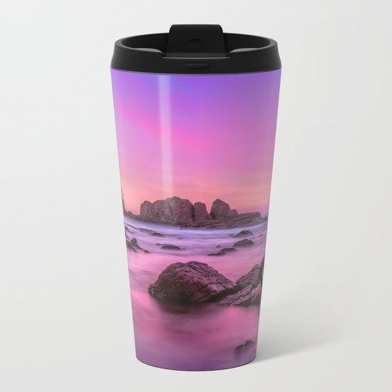 Rosie Sunset Metal Travel Mug