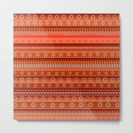 Abstract in orange Metal Print