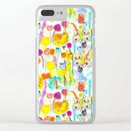 Childhood Butterfly's in a Spring Garden Clear iPhone Case