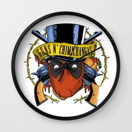 Guns n Chimichangas Wall Clock