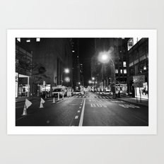 Late Shift Noir Art Print