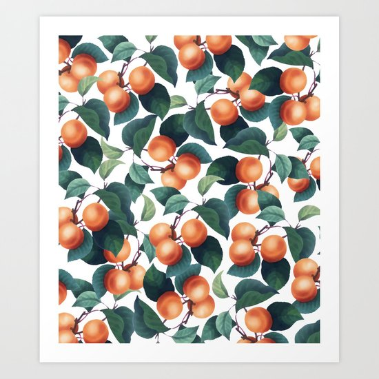 Tropical Fruit #society6 #decor #buyart Art Print