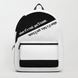 When it's real / fake, you'll know. Backpack