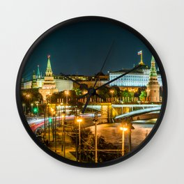 Night in Moscow Wall Clock