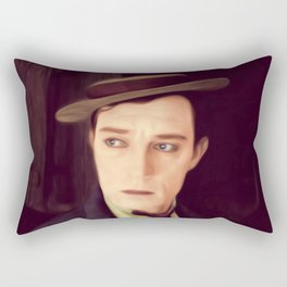 Buster Keaton Rectangular Pillow