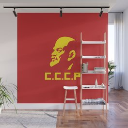 CCCP Lenin Portrait Wall Mural