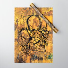 Crushed Skull Drawing Wrapping Paper