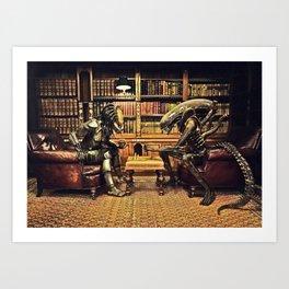 Alien V Predator Art Print