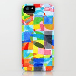 Grid with integrated Bizarre Shapes iPhone Case