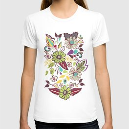 Large Bright Blooms T-shirt