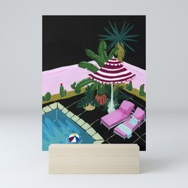 A night in Palm Spring Mini Art Print