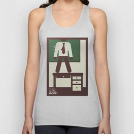 Dead Poets Society, Robin Williams, minimalist movie poster, Peter Weir, classic, 90s film Unisex Tank Top