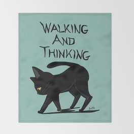 Walking and thinking Throw Blanket