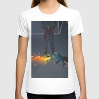 korra T-shirts featuring Korra Fighting  by Paula Urruti