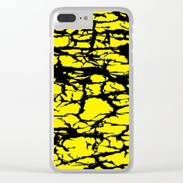 Yellow and Black Interlace Clear iPhone Case
