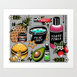 Vegan Pattern Art Print