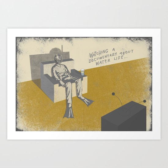 TV (with text) Art Print