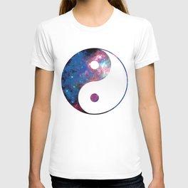 Ying Yang Galaxy Cosmic T-shirt