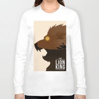 simba Long Sleeve T-shirts featuring The Lion King by Rowan Stocks-Moore