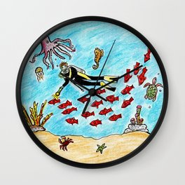 So Much To Sea Wall Clock