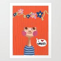 I Love Gingers Art Print
