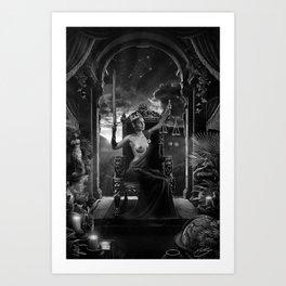 XI. Justice Tarot Card Illustration Art Print