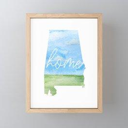 Alabama Home State Framed Mini Art Print