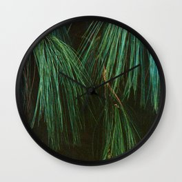 Long Pine Needle Detail Wall Clock