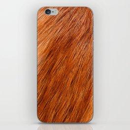 Red fox hairy fur texture cloth iPhone Skin