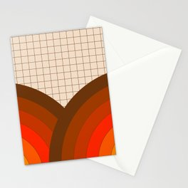 Tan Gridlines Stationery Cards