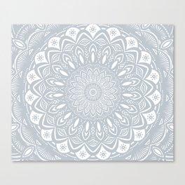 Cool Gray Mandala Simplistic Bold Minimal Minimalistic Canvas Print