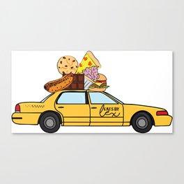 The Eats By Lex Cab Canvas Print