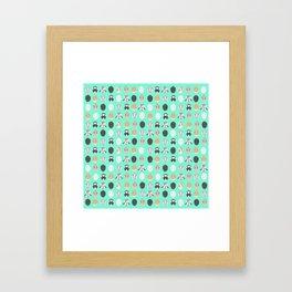 BUNNIES ((seafoam green)) Framed Art Print