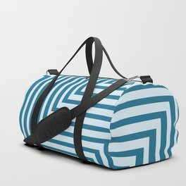 Bold Blue on Blue Zig Zag Duffle Bag