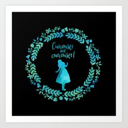 Curiouser and curiouser! Alice in Wonderland. Art Print