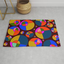Bubble pink & blue 07 Rug