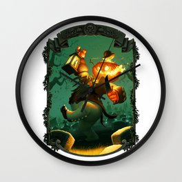 Jack-O-Lantern Wall Clock