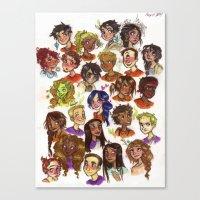 heroes of olympus Canvas Prints featuring Heroes of Olympus  by DellBelle