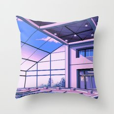 Vaporwave Pool of School Throw Pillow