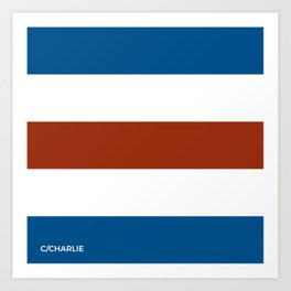 C for Charlie nautical maritime flag Art Print