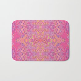 Mad pink marble 1 Bath Mat