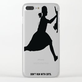 Don't Run With Cats Clear iPhone Case