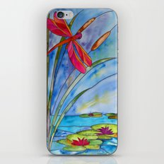 Stained Glass Dragonfly iPhone & iPod Skin